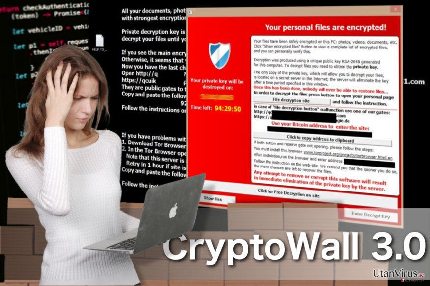 Viruset CryptoWall 3.0 ögonblicksbild