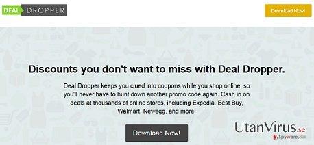 Deal Dropper popup-annonser ögonblicksbild