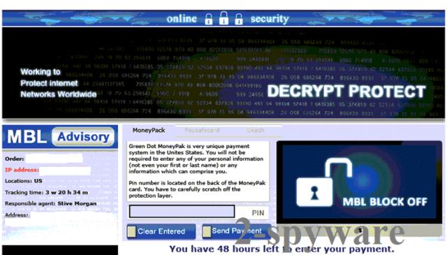 Decrypt Protect virus ögonblicksbild