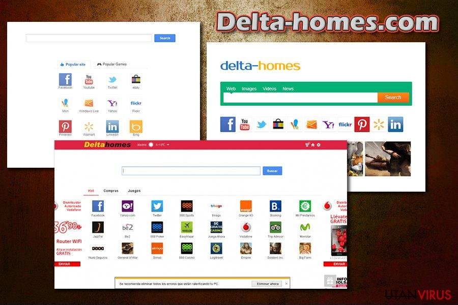 Delta-homes.com ögonblicksbild