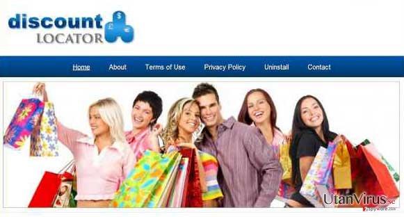 Annonser från Discount Locator ögonblicksbild