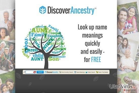 Verktygsraden DiscoverAncestry ögonblicksbild