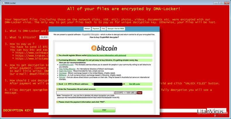 DMA-Locker virus message
