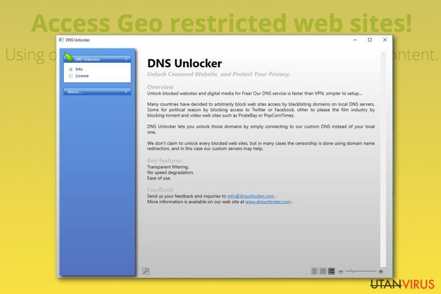 Annonsprogrammet DNS Unlocker