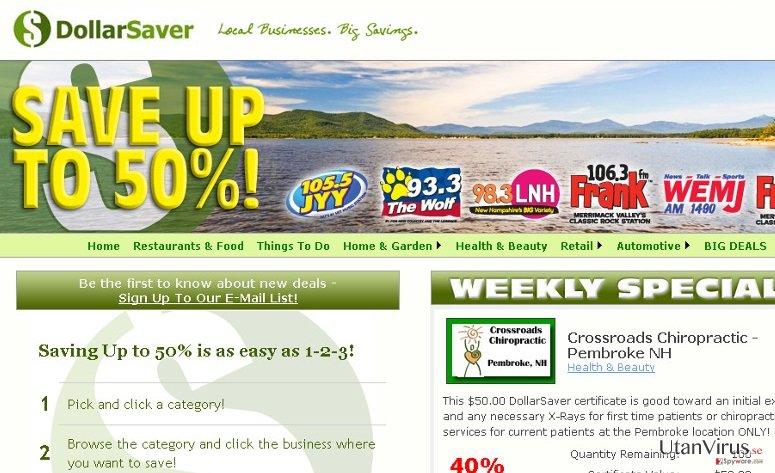 Dollar Saver-annonser ögonblicksbild