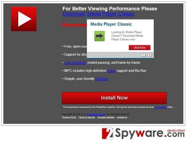 Popup-viruset Downloadju.com ögonblicksbild