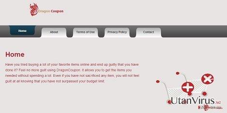 DragonCoupon virus ögonblicksbild