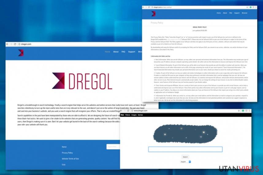 Dregol.com-omdirigeringar ögonblicksbild