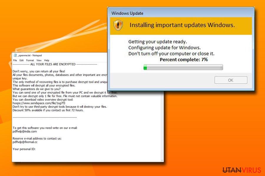 Djvu-ransomvare använder Windows Updates