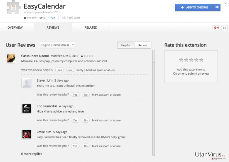 EasyCalendar-annonser ögonblicksbild