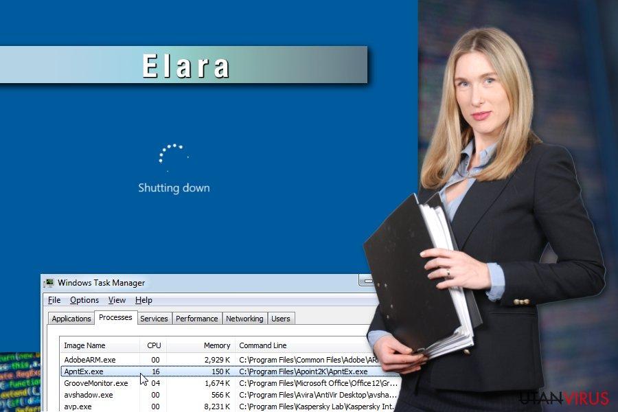 Exempel på Elara-appen