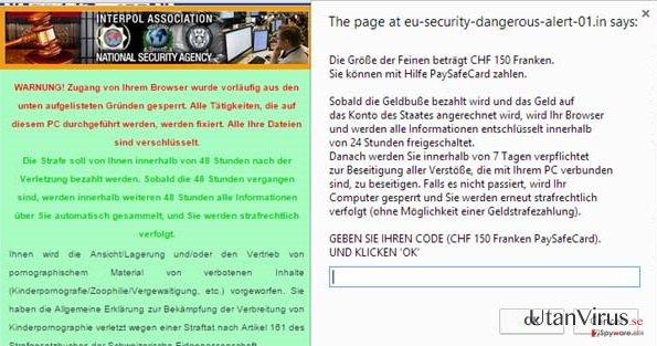 Viruset State-dangerousalert-us-01.in ögonblicksbild