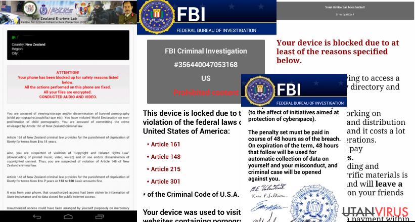 Exempel på Android-virus