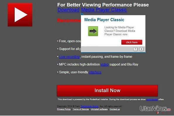UpdatesJava.com pop-up virus ögonblicksbild