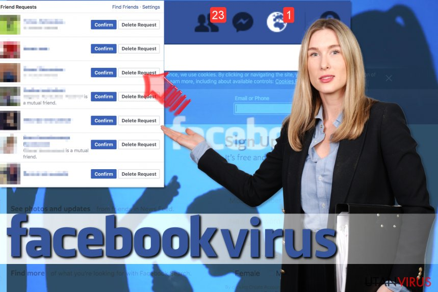 Viruset Facebook Friend Request ögonblicksbild