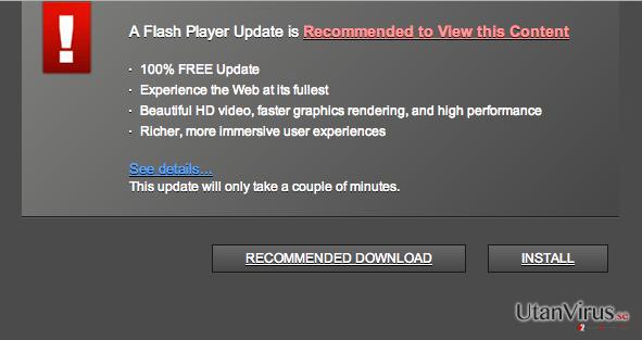 Trustedupdate.com popup-virus ögonblicksbild