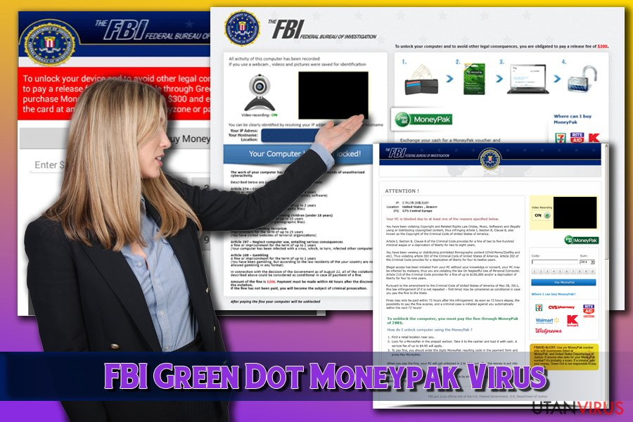 FBI Green Dot Moneypak Virus