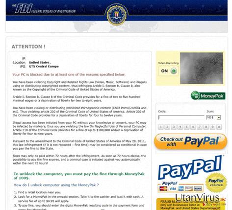 FBI PayPal virus ögonblicksbild