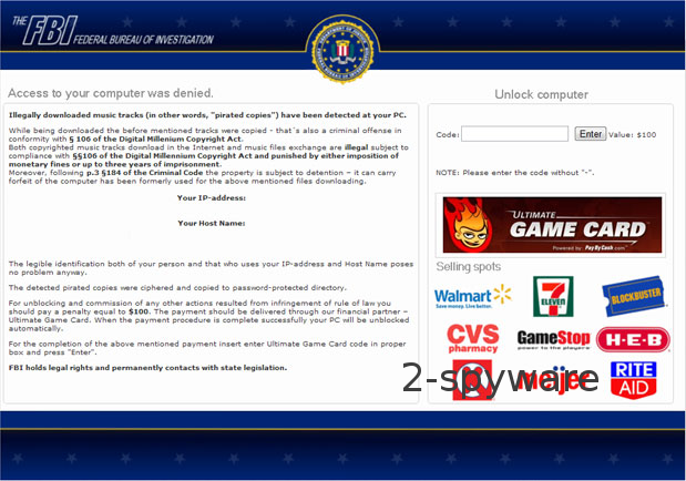 FBI Ultimate Game Card virus ögonblicksbild