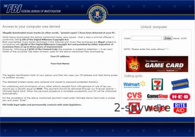 FBI Ultimate Game Card virus