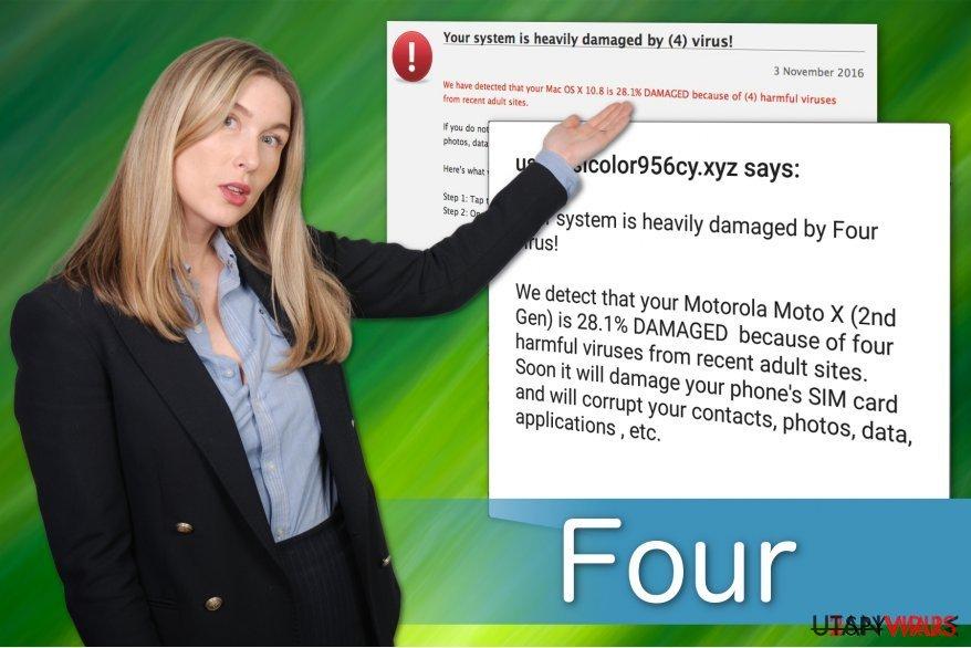 Four-virus falska varning