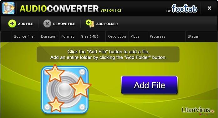 FoxTab Audio Converter ögonblicksbild