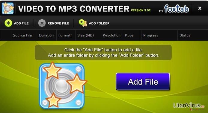 FoxTab Video Converter ögonblicksbild