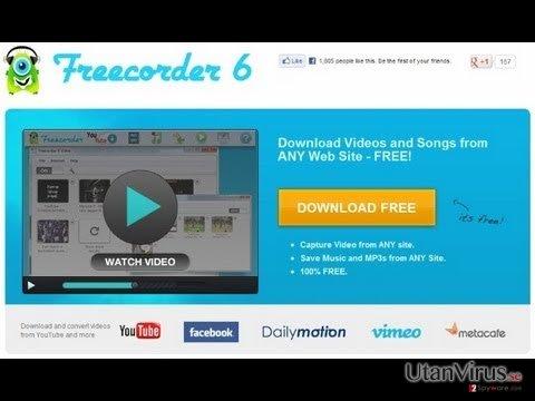 Freecorder ögonblicksbild