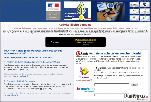 Virus Gendarmerie ögonblicksbild