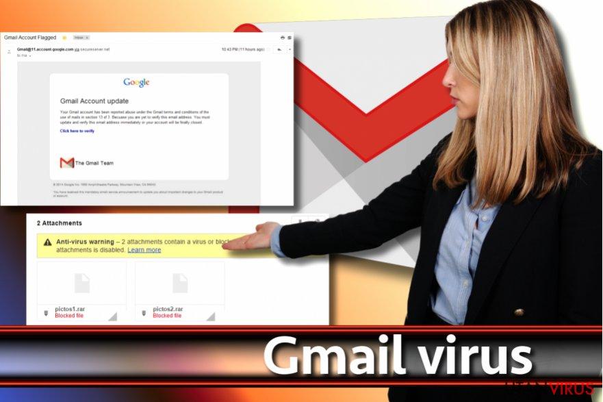Skärmdump av Gmail-viruset