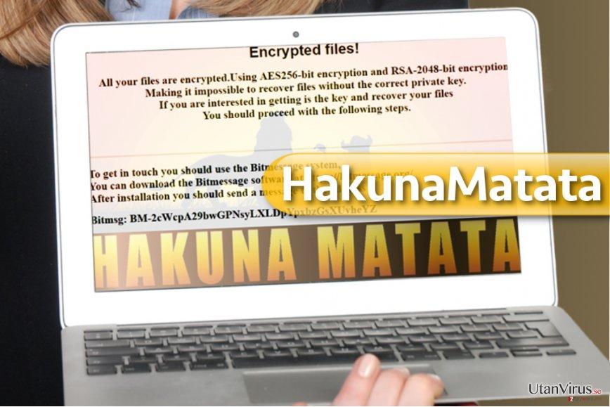 HakunaMatata ransomware ögonblicksbild