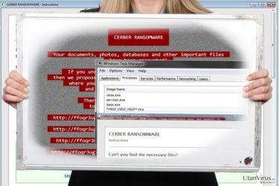 Skärmdump av Help_help_help-viruset
