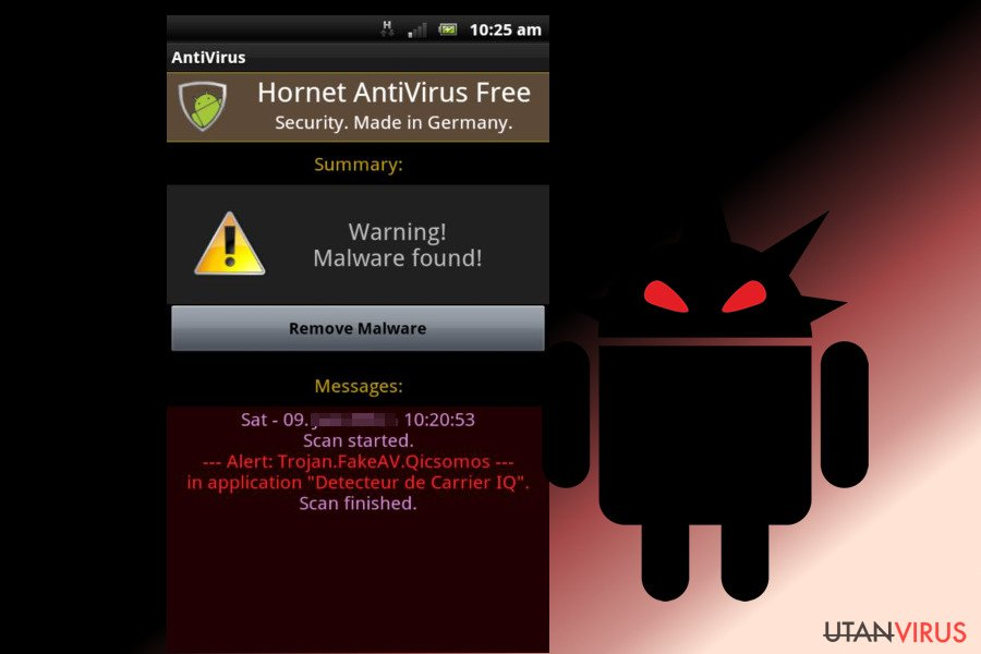 Android-virus ögonblicksbild