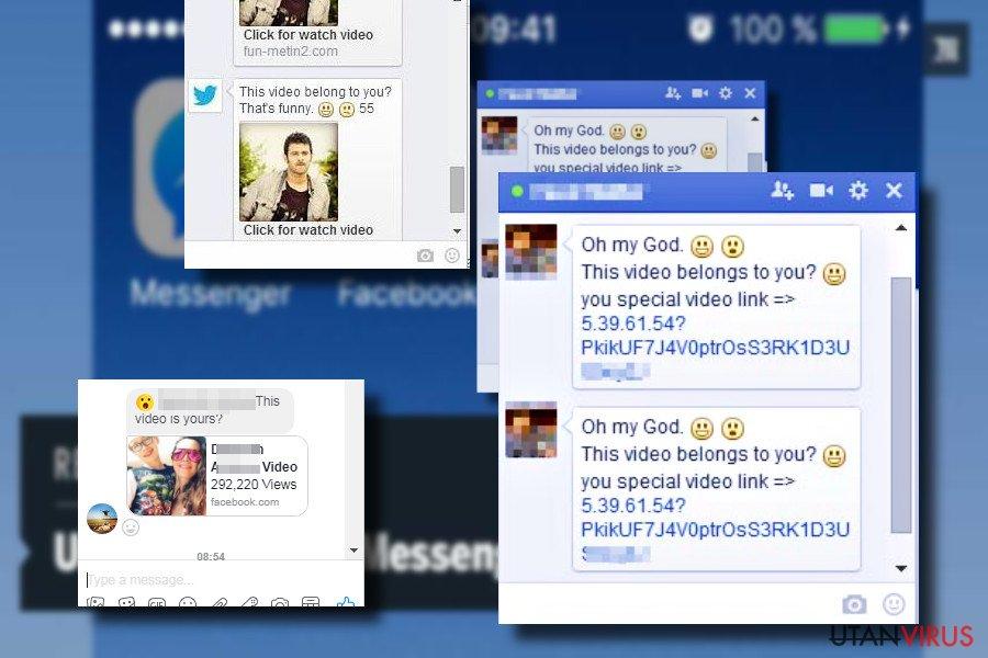 """""""Är det du"""" Facebookvirus-meddelande"""