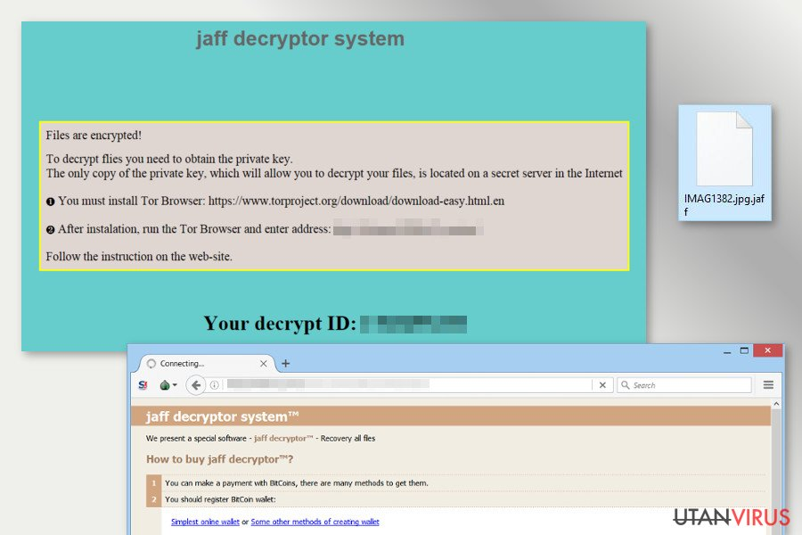 The image of Jaff ransomware