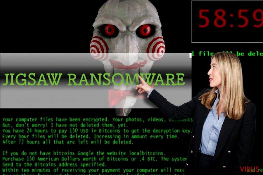 Jigsaw ransomware ögonblicksbild
