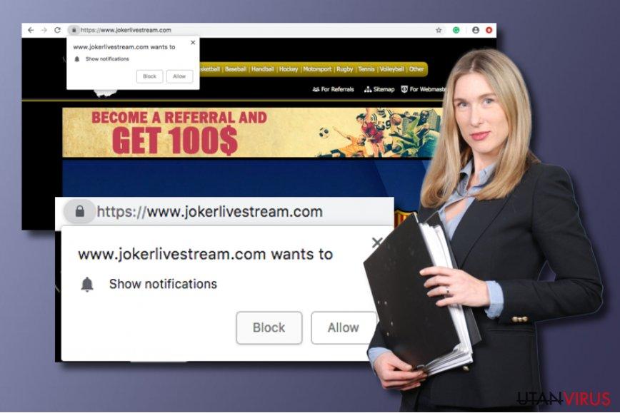 Jokerlivestream.com potentiellt oönskat program