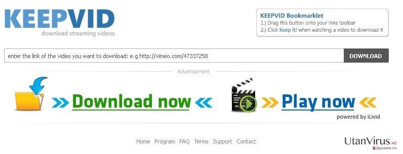 KeepVid.com ögonblicksbild
