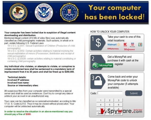 Kovter ransomware ögonblicksbild