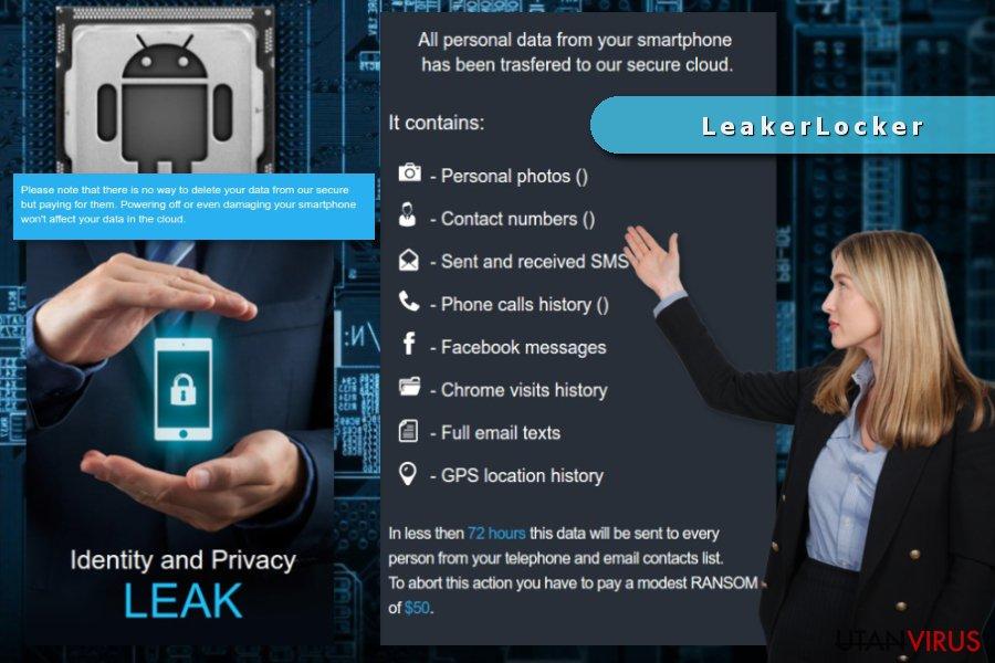 Bildexempel på LeakerLocker ransomware