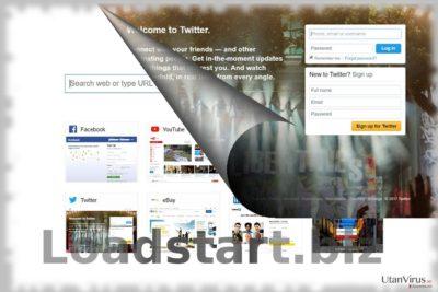 Bildexempel på Loadstart.biz-viruset