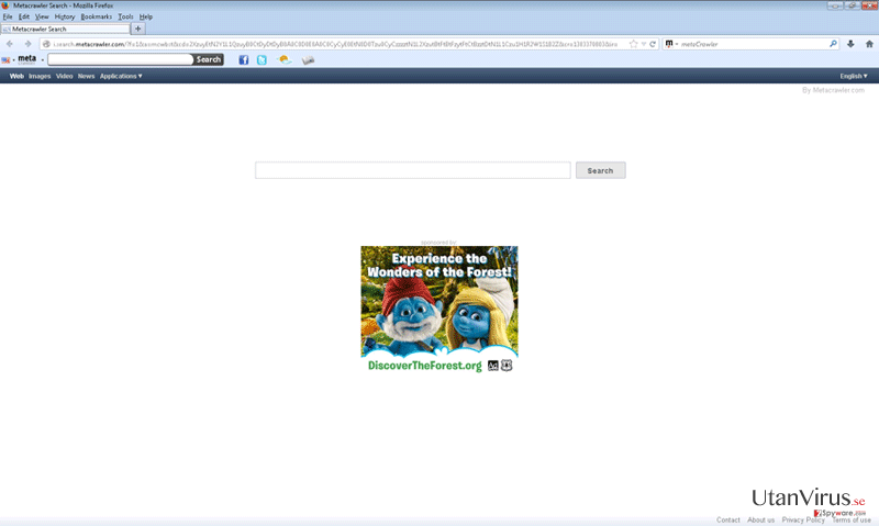 Metacrawler Toolbar ögonblicksbild