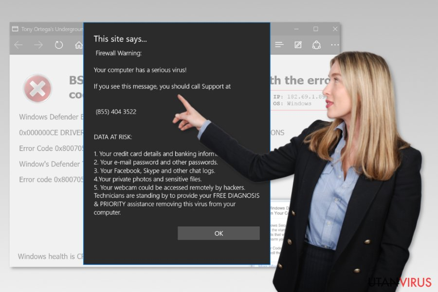 Microsoft Edge support bedrägeri