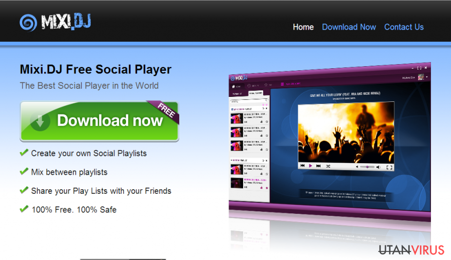 Mixi.dj virus ögonblicksbild