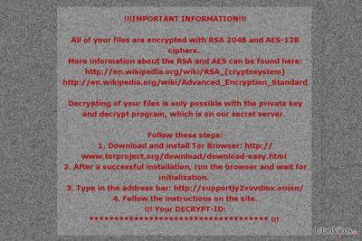 Mole02 ransomwares ransom-meddelande