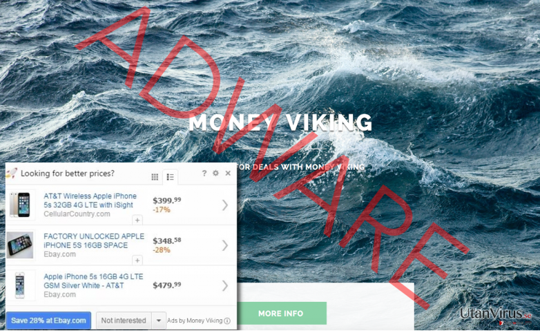 Money Viking official website and the ad example