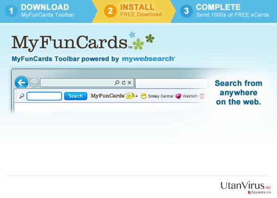 MyFunCards Toolbar ögonblicksbild