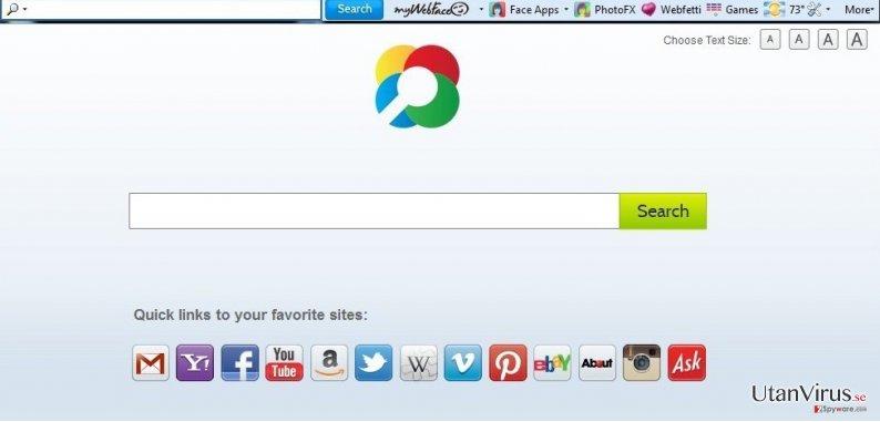 MyWebFace verktygsrad ögonblicksbild
