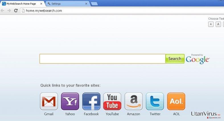 mywebsearch.com ögonblicksbild