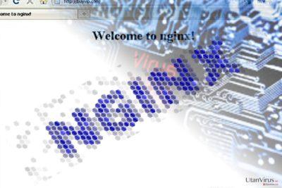 Bildexempel på Nginx-viruset